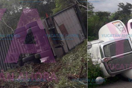 Vuelca y deja 'salada' la carretera Mérida-Tizimín