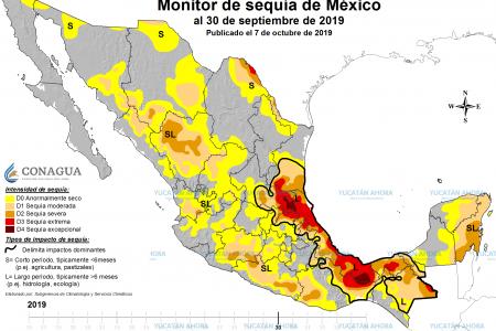 Septiembre, el mes más seco en la Península de Yucatán