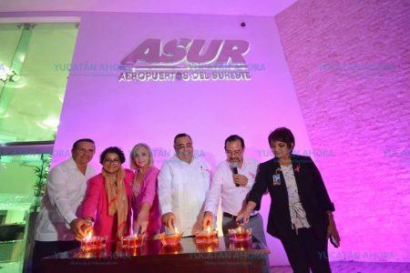 El aeropuerto de Mérida se une a la lucha contra el cáncer