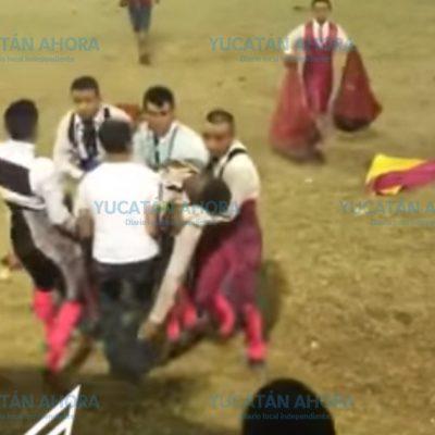 Torero se desvanece tras sufrir cornada en 'corrida de promesas'
