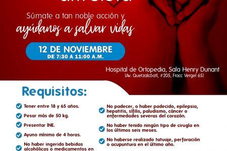 Realizarán jornada de donación de sangre en la Cruz Roja