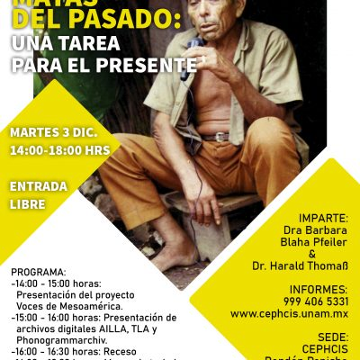 Impartirán taller sobre preservación de audios en lenguas indígenas