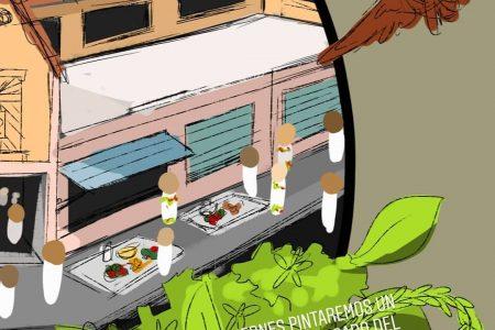 Pintarán de manera colectiva un mural en el mercado de Chembech