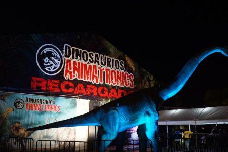 Dinosaurios Animatronics recargados nuevamente en Mérida