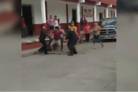 Evidencian arbitrariedad de policías municipales de Motul