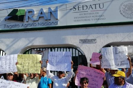 Ejidatarios de Muxupip piden renuncia de Pablo Duarte Sánchez