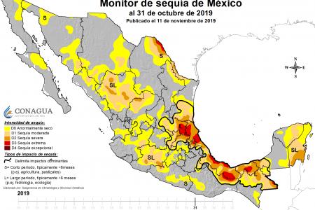 Lluvias de frentes fríos aplacan la sequía en la Península de Yucatán