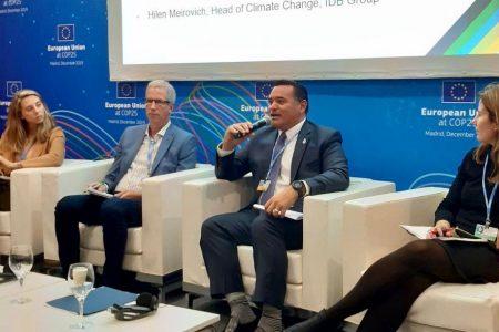 Genera interés en la COP25 de Madrid escudo de Mérida contra el cambio climático