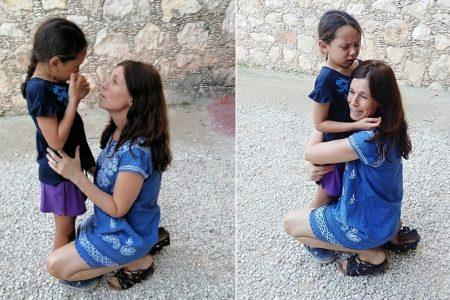 Se pierde niña de siete años en Dzibilchaltún, y en tiempo récord hallan a su madre