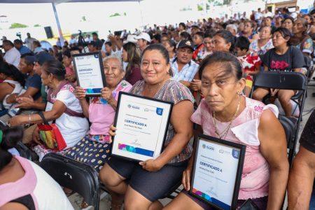 Más familias yucatecas beneficiadas con las 17 mil acciones de vivienda en 2019