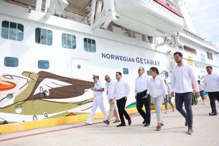 Llega por primera vez a Yucatán crucero Norwegian Getaway… y vienen más