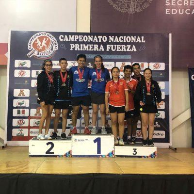 Yucatán, campeón absoluto en torneo nacional de tenis de mesa, primera fuerza