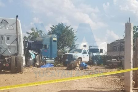 Encuentran muerto al velador de un taller de camiones pesados