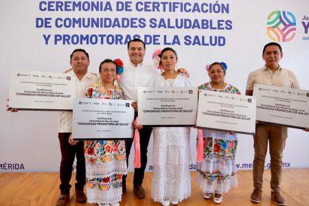 Certifican como saludables a cinco comunidades de Mérida