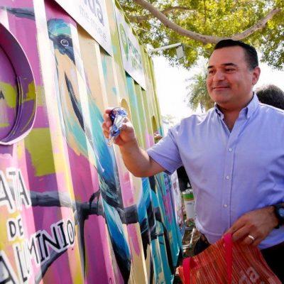 El alcalde Renán Barrera entrega Mega Punto Verde en la colonia Alemán