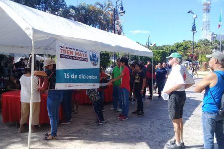 Desde temprano, cientos de yucatecos fueron a votar por el Tren Maya