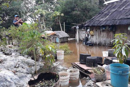 Fueron nueve las casas que se inundaron en Tinum por el frente frío 23