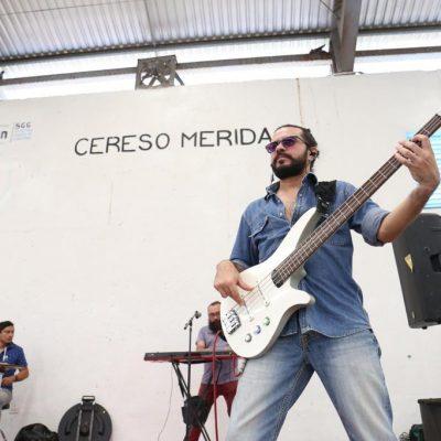 Con rock, comida, béisbol y convivencia despiden el año en el Cereso de Mérida