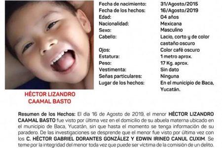 Activan Alerta Amber por desaparición de niño de cuatro años