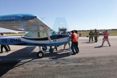 Avioneta protagoniza accidentado aterrizaje en el aeropuerto de Mérida