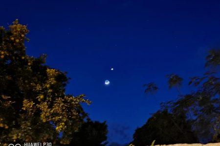 Alza la mirada al cielo y observa la conjunción de Venus y la Luna