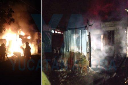 Pierde su humilde casa al incendiarse por un cortocircuito