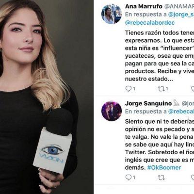 Corren de programa de TV a modelo española que insultó a los yucatecos en redes