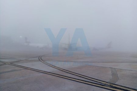 Densa neblina obliga al cierre de pistas en el aeropuerto de Mérida