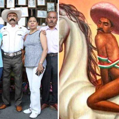 Trifulca en Bellas Artes de CDMX por cuadro de Zapata 'feminizado'