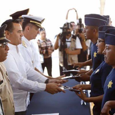 Se incorporan a la Policía Municipal de Mérida 33 nuevos agentes