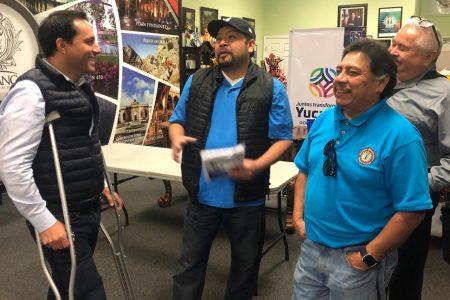 No están solos, les dice Mauricio Vila a migrantes yucatecos en Estados Unidos