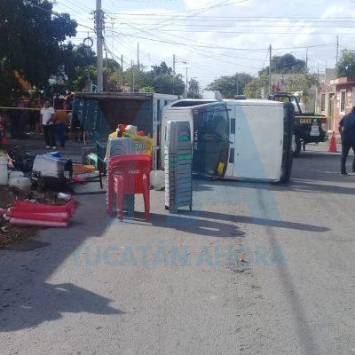 Trancazo en San José Tecoh: seis heridos por choque de camioneta y un Grand i10