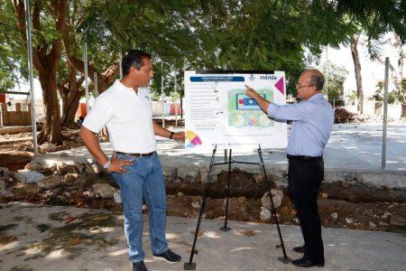 Supervisan obras en el parque Polígono 108-CROC