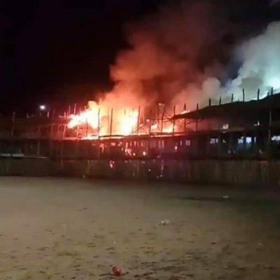 Atentan contra el coso más grande de Yucatán: incendio en el tablado de Tizimín