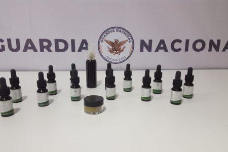 Decomisan aceite de marihuana en el aeropuerto meridano