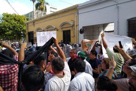 Marcha atípica en Mérida: su intención era 'reventar'