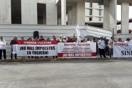 Marchas previas al informe del gobernador Mauricio Vila