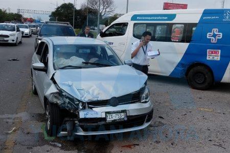 Ambulancia de Acanceh vino a Mérida solo a chocar