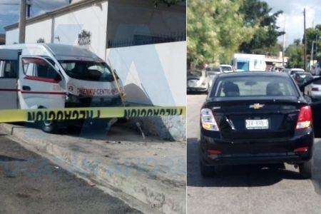 No vio un alto y chocó contra un taxi colectivo: nueve pasajeros 'chicoleados'