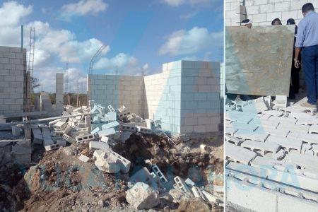 Se cae un muro en Kanasín: sepulta a un jovencito de 14 años