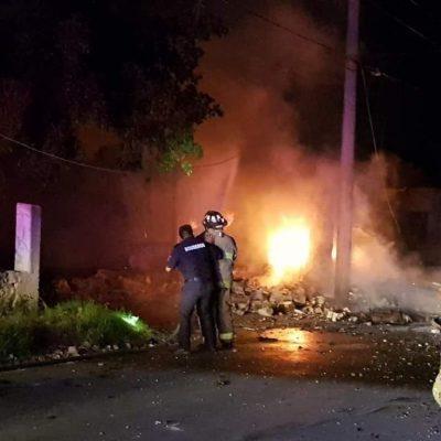 Explosión en un predio de Kanasín donde almacenaban pirotecnia: un muerto