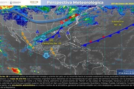Nublados y ambiente caluroso por aproximación del frente frío 29