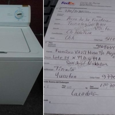 Empresa de Chihuahua dona lavadora para dos expertas tamaleras de Tizimín
