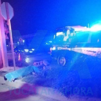 Fallece atropellado frente a centro nocturno de Kanasín, en la Mérida-Cancún