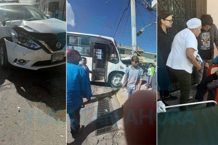 Semaforazo entre camión y auto: cinco heridos, incluido un bebé de cuatro meses