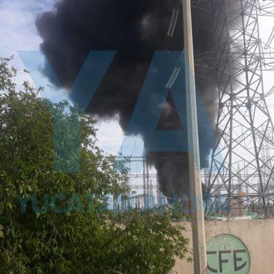 Explota reactor de la CFE en una subestación del sur de Yucatán