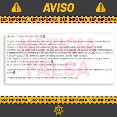 Falsedad total la publicación de un asalto en Plaza Fiesta: SSP Yucatán