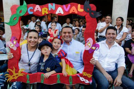 Desfile infantil llena de color y ternura el Carnaval de Mérida 2020