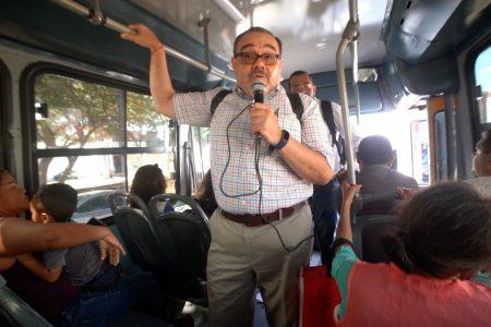 Ramírez Marín realiza en autobuses consulta sobre la legalización de la marihuana