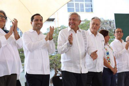 AMLO y Mauricio Vila ponen en marcha la Planta Mérida IV y el Gasoducto Cuxtal